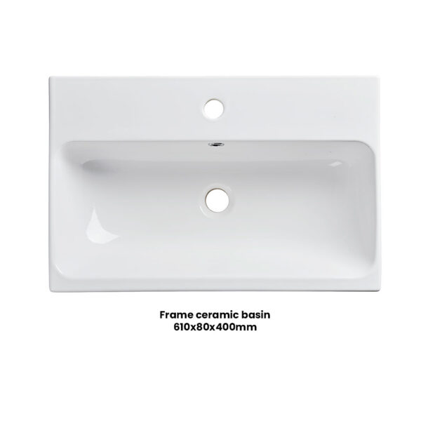 Roper Rhodes 600mm Frame ceramic wash basin for Frame bathroom vanity units