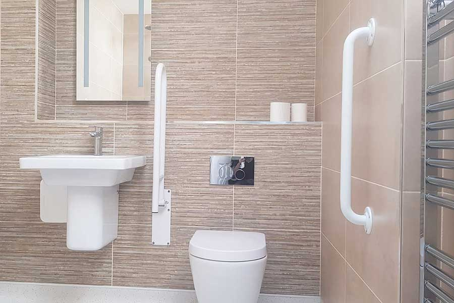 Disabled bathroom created by Room H2o for a customer in Wareham Dorset