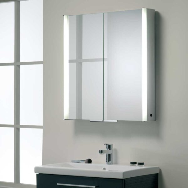 Plateau illuminated double door bathroom cabinet by Roper Rhodes