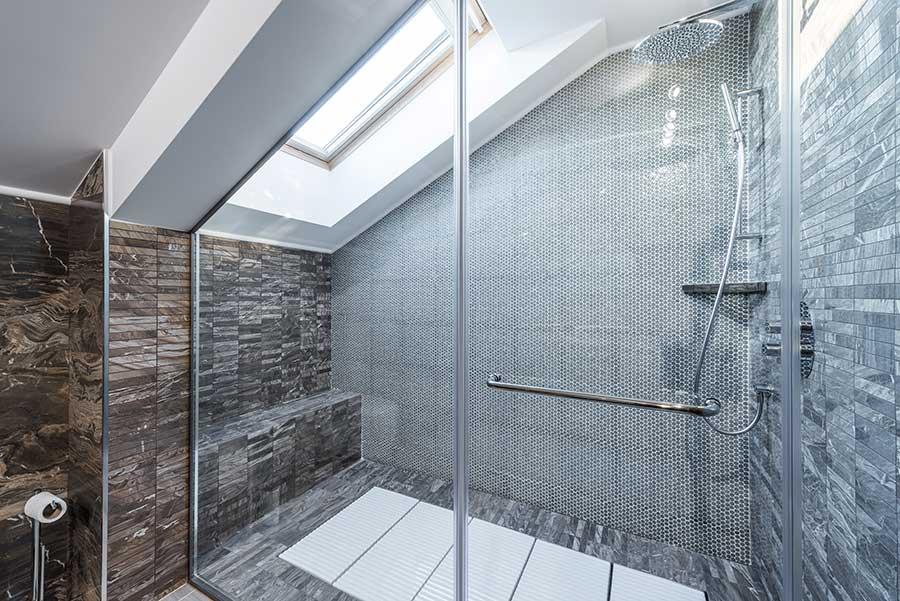 Loft shower enclosure