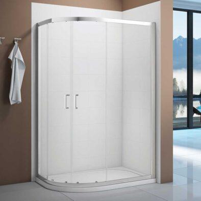 Merlyn Vivid Boost single door offset curved quadrant shower enclosure