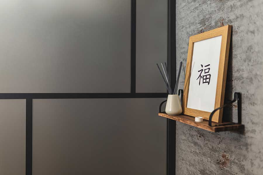Drench Suzhou black frame shower screen