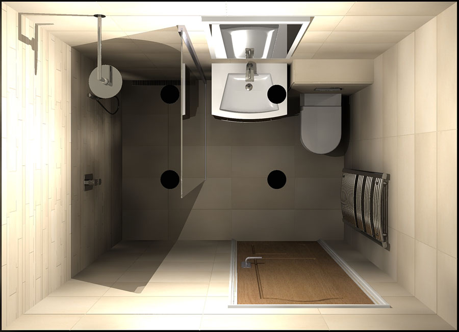 Virtual 3D wet room design create by Room H2o